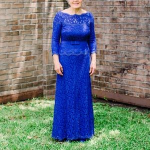 OTS Lace Formal Gown